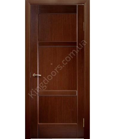 """Межкомнатные шпонированные двери """"Генри"""" ПГ.  НСД. Цвет - каштан"""