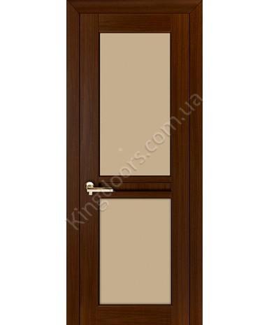 """Межкомнатные шпонированные двери """"Нью - Йорк Сити"""" ПОО.  НСД. Цвет - каштан"""