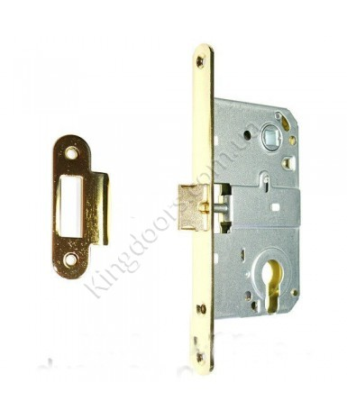 Дверной врезной механизм под цилиндр. Цвет золото