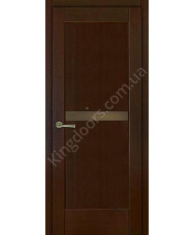 """Межкомнатные шпонированные двери """"Санрайз 1"""" ПО.  НСД. Цвет - венге"""