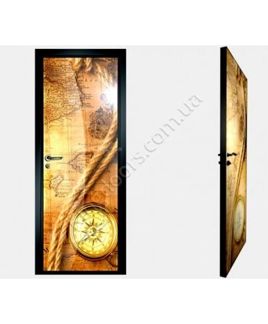 """Межкомнатные стеклокаркасные двери. Модель """"19 F"""". Фабрика Аксиома. Покрытие зеркало. фотопечать"""
