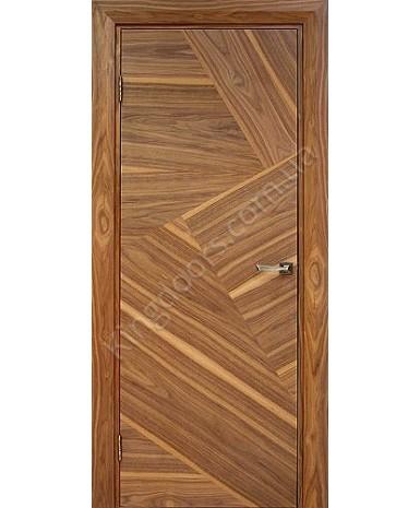 """Межкомнатные шпонированные двери """"Маркетри 1"""" ПГ.  WoodOk. Цвет - дуб строганый"""