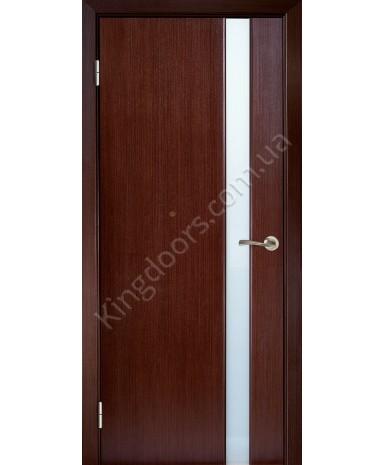 """Межкомнатные шпонированные двери """"Милано 1"""" ПО.  Галерея дверей. Цвет - венге"""