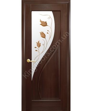 """Межкомнатные двери """"Прима"""",ПО +Р1. пленка ПВХ, фабрика """"Новый стиль"""", цвет - каштан"""
