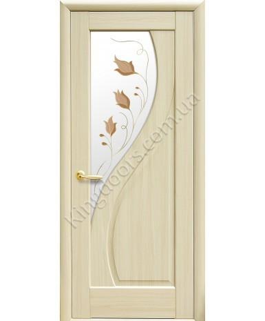 """Межкомнатные двери """"Прима"""",ПО +Р1. пленка ПВХ, фабрика """"Новый стиль"""", цвет -ясень"""