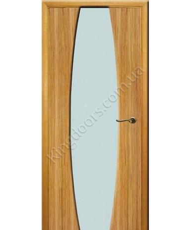"""Межкомнатные шпонированные двери """"Идеал"""" ПО.  WoodOk. Цвет -дуб строганый"""
