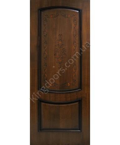"""Межкомнатные шпонированные двери """"Виктория"""" ПГ.  Фабрика Омис. Цвет - орех лесной"""