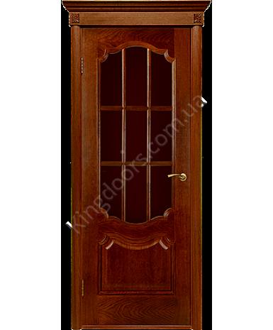 """Межкомнатные шпонированные двери """"Престиж"""" ПО.  Двери Белоруссии. Цвет - каштан"""