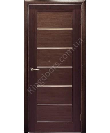 """Межкомнатные шпонированные двери """"Калипсо"""" ПО.  WoodOk. Цвет - венге"""
