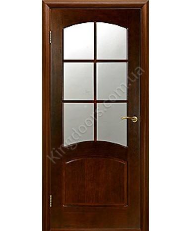 """Межкомнатные шпонированные двери """"Наполеон"""" ПО.  Двери Белоруссии. Цвет - дуб тонированный"""