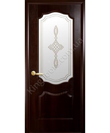 """Межкомнатные двери """"Фортис вензель"""",ПО +Р1. пленка ПВХ, фабрика """"Новый стиль"""", цвет - каштан"""