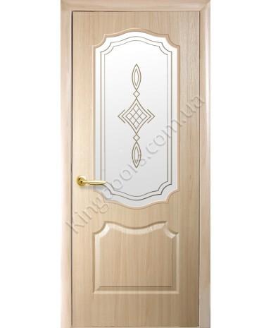 """Межкомнатные двери """"Фортис вензель"""",ПО +Р1. пленка ПВХ, фабрика """"Новый стиль"""", цвет - ясень"""