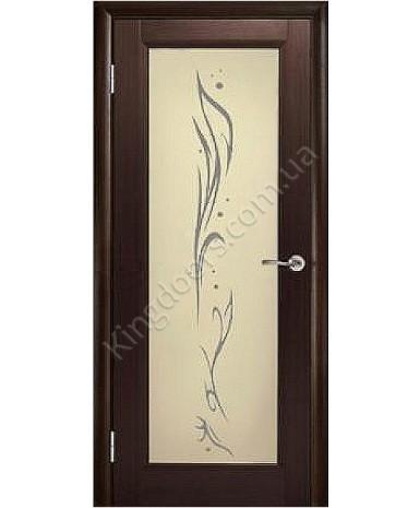 """Межкомнатные шпонированные двери """"Максима"""" ПО с рисунком.  WoodOk. Цвет - венге"""