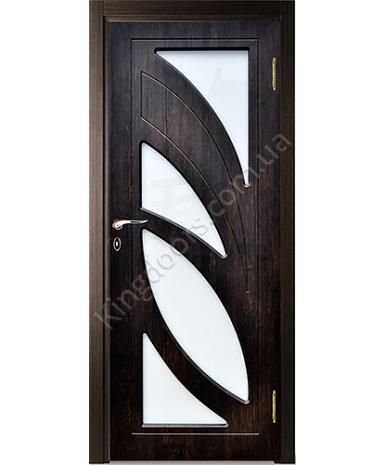"""Межкомнатные двери """"Пальмира"""" ПО. Покрытие пленка ПВХ. Фабрика """"Феникс"""" Цвет - темный орех"""