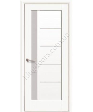 """Межкомнатные двери """"Грета"""",ПО СС, пленка ПВХ, фабрика """"Новый стиль"""", цвет - белый матовый"""